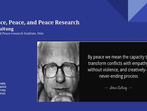 Violence, Peace, and Peace Research by Sapienza students for the 3rd CSB Pilot Course