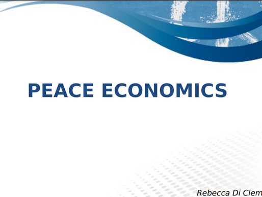 Peace Economics - a study by Roberta Di Clemente from Sapienza University of Rome