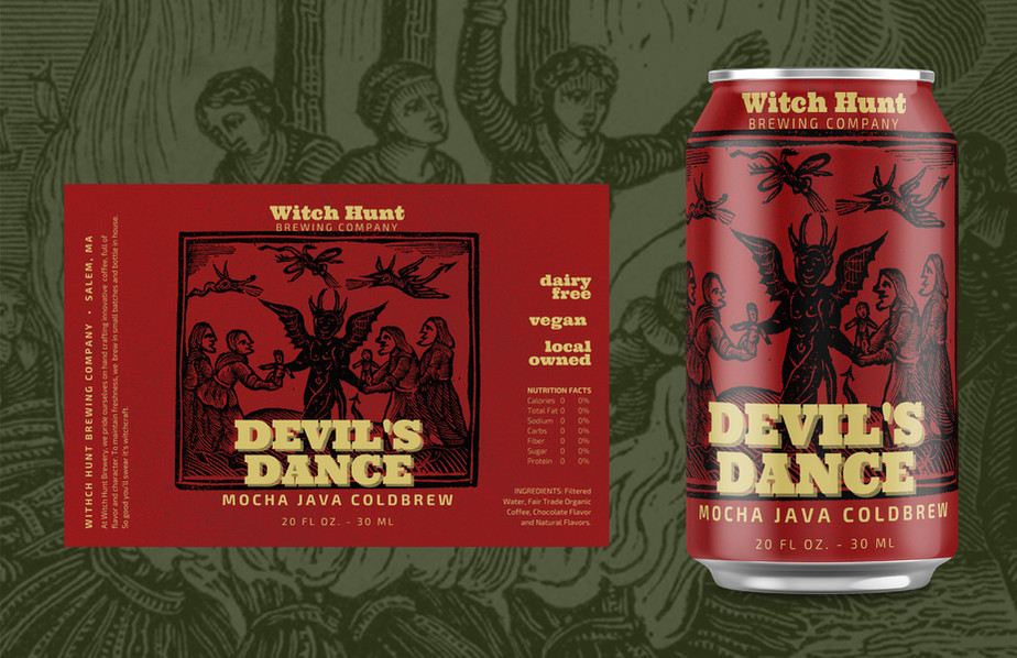 Witch Hunt Brewing Mocha Cold Brew Packaging