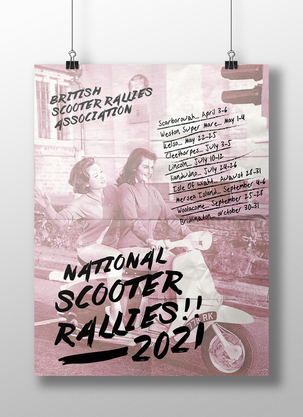 UK National Scooter Rallies Posters
