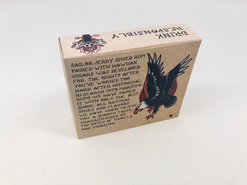Sailor Jerry Rum & Cigar Kit Packaging Back