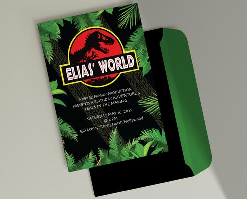 elias' world birthday invitation