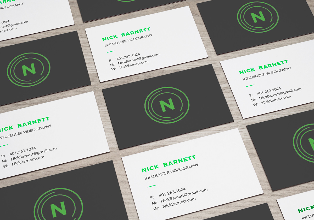 Nick Barnett Business Card