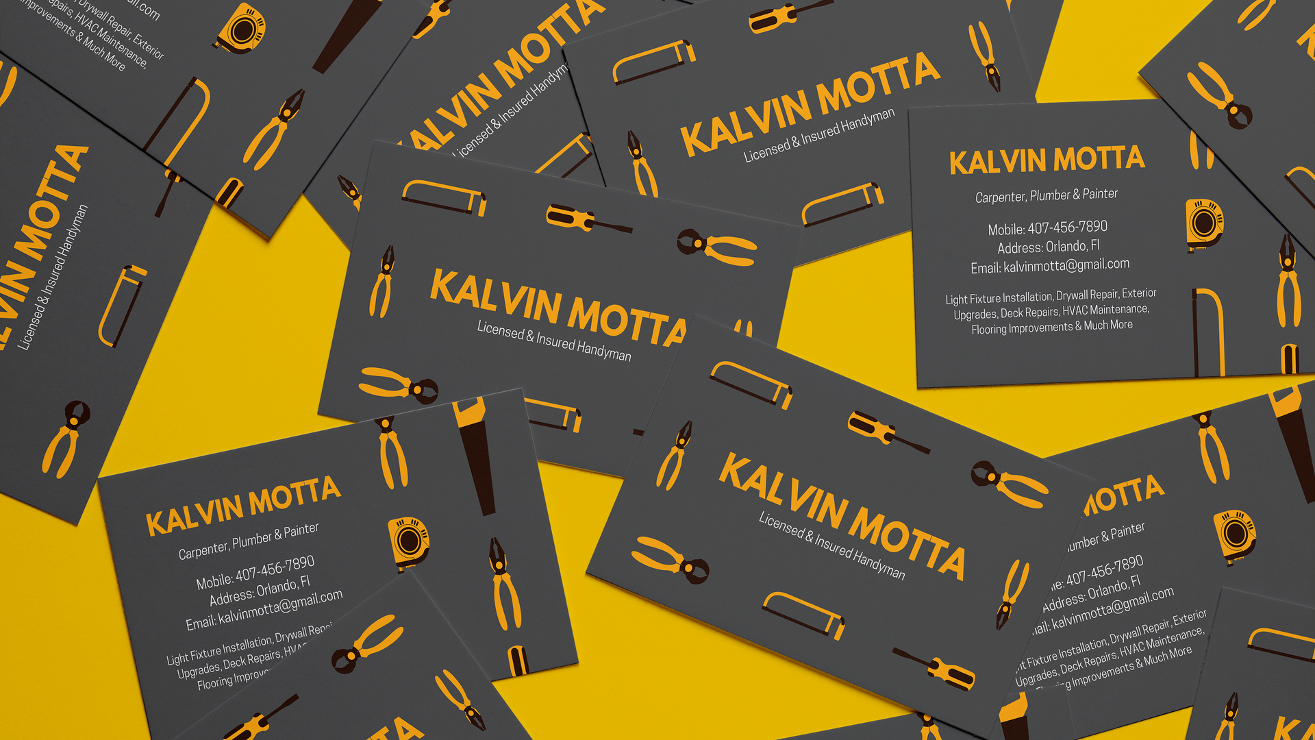 Kalvin Motta Business Card