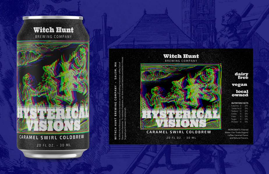 Witch Hunt Brewing Caramel Cold Brew Packaging