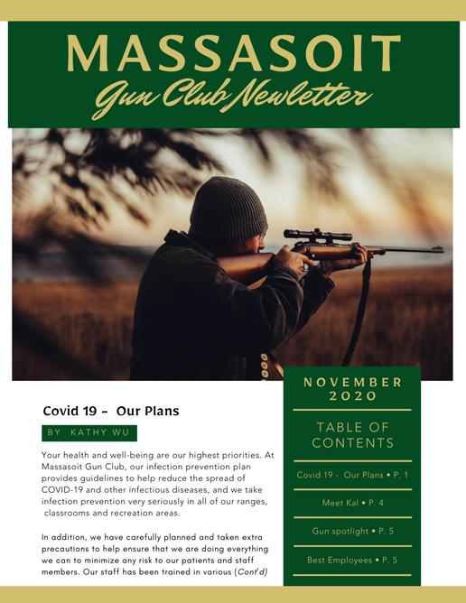 Massasoit Gun Club Newsletter Page