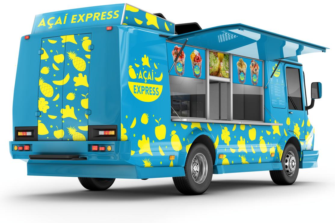 Acaí Express Food Truck Wrap