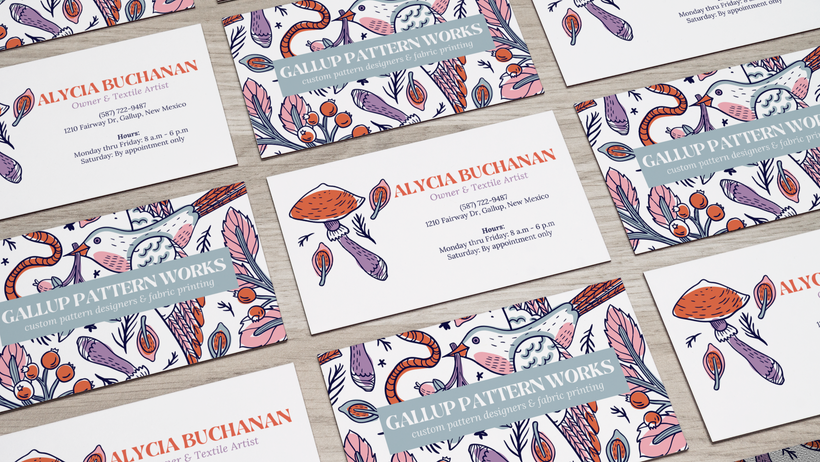 gallup pattern work business cards