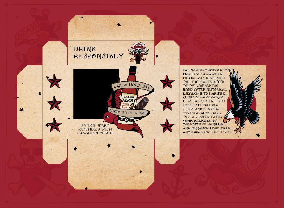 Sailor Jerry Rum & Cigar Kit Packaging Deconstruction