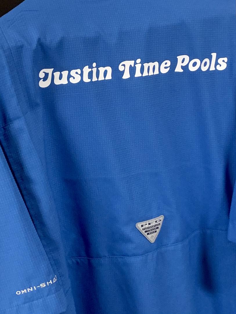 Justin Time Pools Tee Shirt