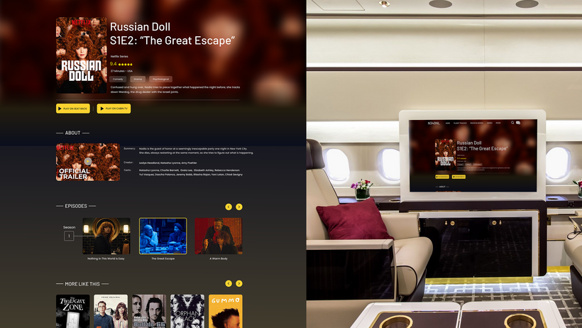 inflight entertainment platform -