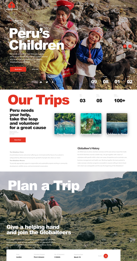 Globalteer Tours Home Page