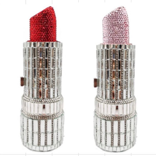 Crystal lipstick clutch bag (pre-order) limited
