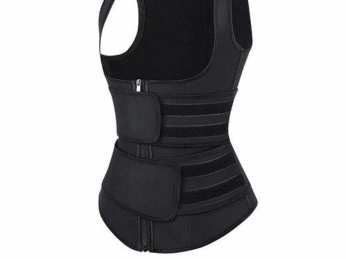 Double strap latex full shaper vest (black only) Pre-order