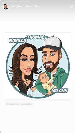 Partage Nabilla Thomas