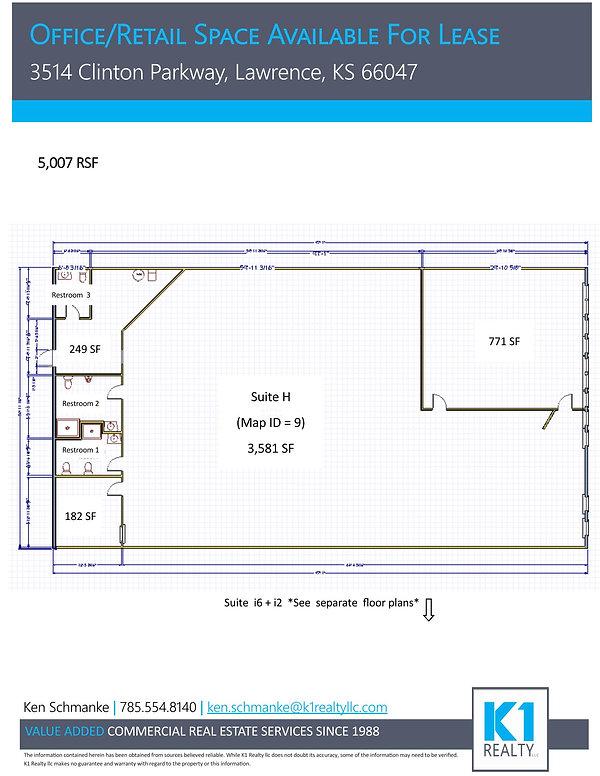 Parkway Center - Suite H Floor Plans (We
