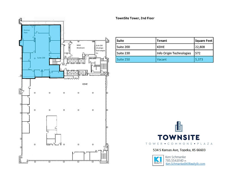 Townsite - Available Space Floor Plans 0