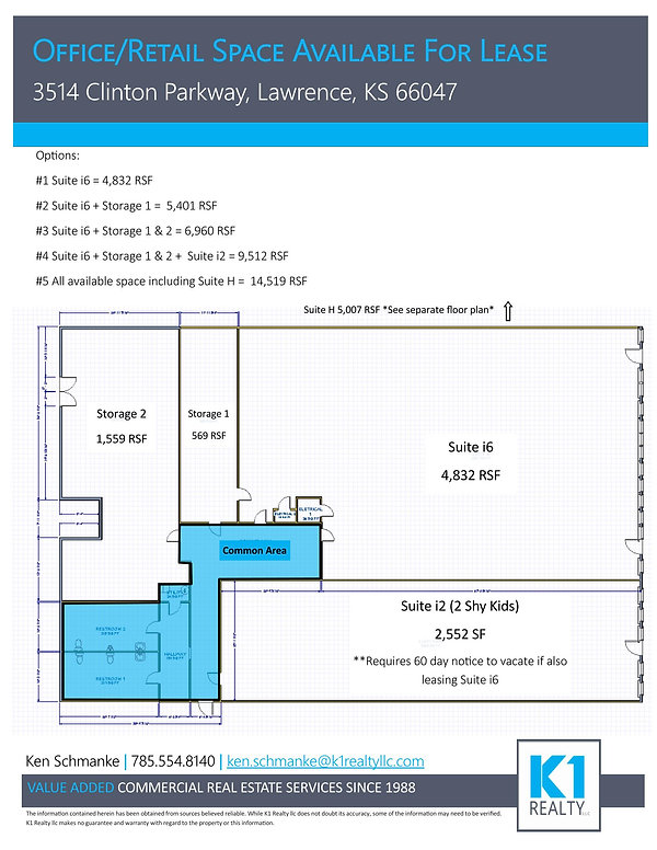 Parkway Center - Suite i6 + i2 Floor Pla