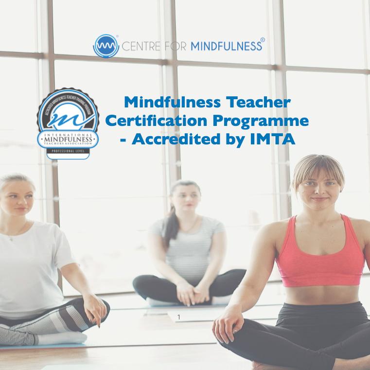 Mindfulness Teacher Training Program - September 2021 Intake