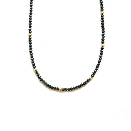 BLACK GARNET MOON CYCLE NECKLACE