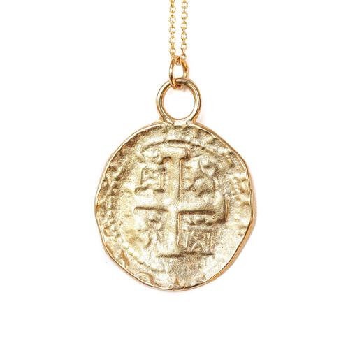 Gold coin pendant aloadofball Choice Image