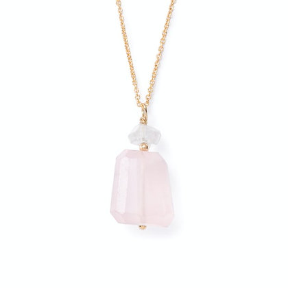 ROSE QUARTZ HERKIMER NECKLACE
