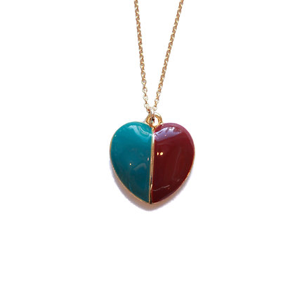 RED & BLUE HEART NECKLACE