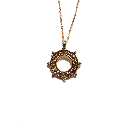 GOLD NOTCH COIN NECKLACE