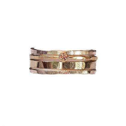 CHAMPAGNE DIAMOND RING STACK