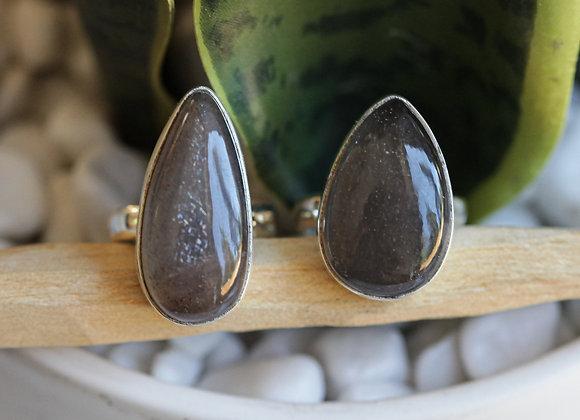 CHOCOLATE MOONSTONE SILVER RINGS