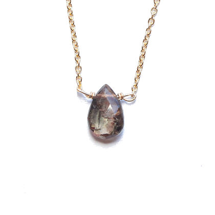 ANDALUSITE LITTLE GEMSTONE NECKLACE