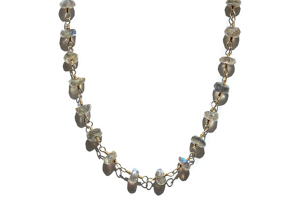 LABRADORITE TIERED GEMSTONE NECKLACE