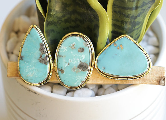 MEXICAN TURQUOISE  LULE RINGS (312)