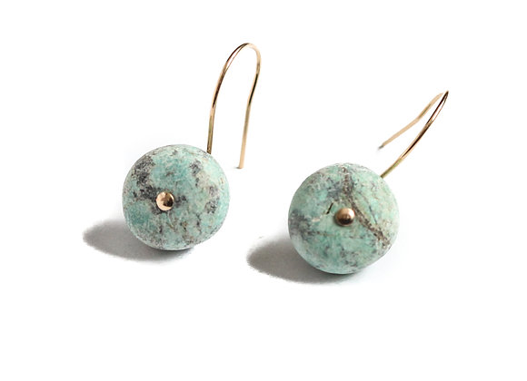 TURQUOISE MINERAL EARRINGS
