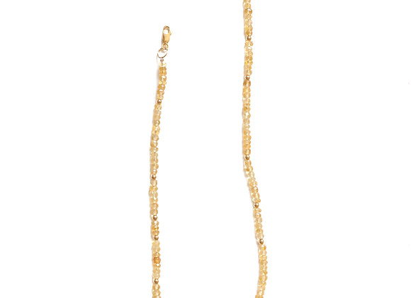 CITRINE MOON CYCLE NECKLACE