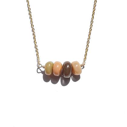 Cream Opal Bar Necklace