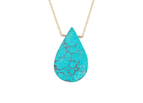 LARGE TURQUOISE MINERAL NECKLACE