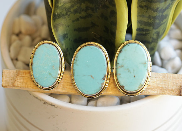 MEXICAN TURQUOISE  LULE RINGS (485)