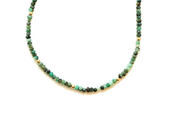 EMERALD MOON CYCLE NECKLACE