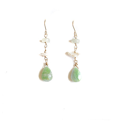 BORA BORA TIERED GEMSTONE EARRINGS