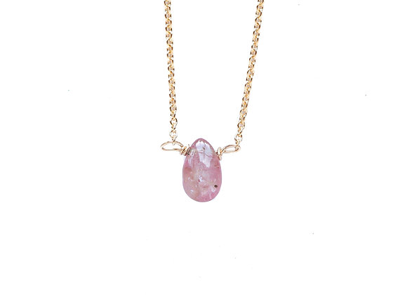 KUNZITE MINERAL NECKLACE