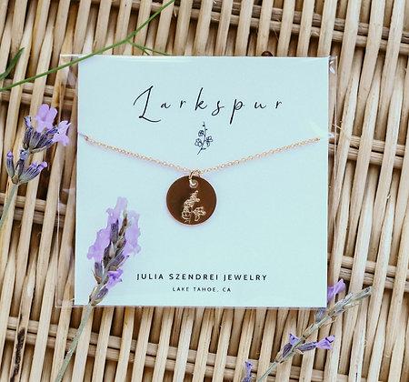 JULY BIRTH FLOWER LARKSPUR