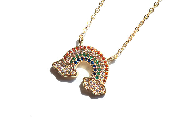 PAVE´ RAINBOW NECKLACE