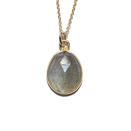 ROSE CUT LABRADORITE NECKLACE