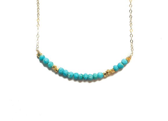 TURQUOISE LOVE MORSE CODE NECKLACE