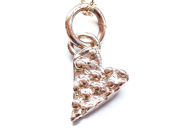 SPOTTED HEART NECKLACE