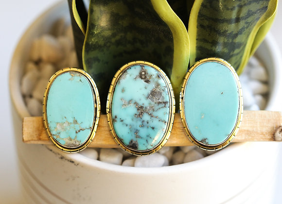 MEXICAN TURQUOISE  LULE RINGS (616)