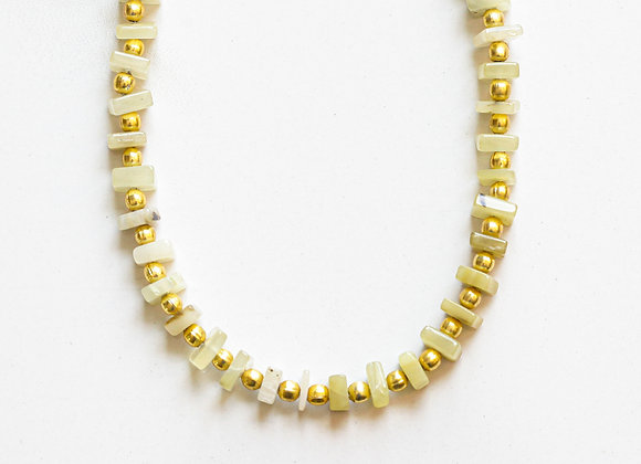 YELLOW OPAL & GOLD NECKLACE