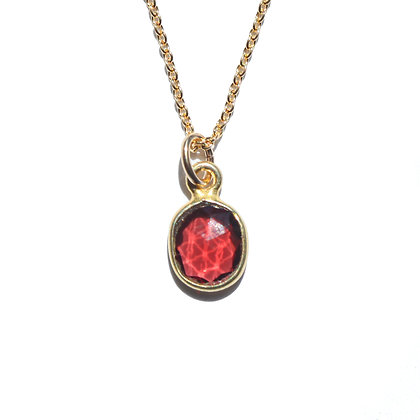 ROSE CUT GARNET NECKLACE -JANUARY BIRTHSTONE