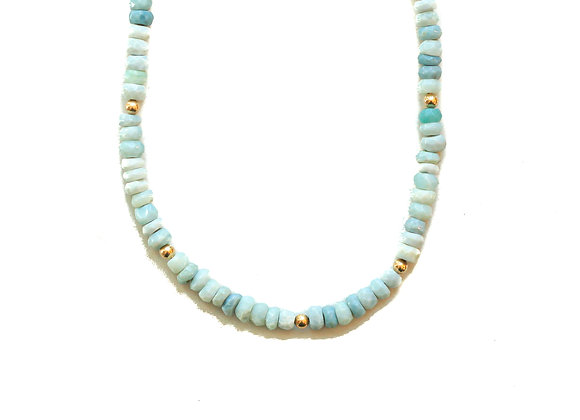 LARIMAR MOON CYCLE NECKLACE